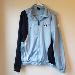 Blue Two-Toned Adidas Jacket